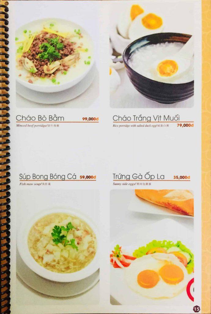 Menu ăn sáng Dìn Ký Nguyễn Trãi 12