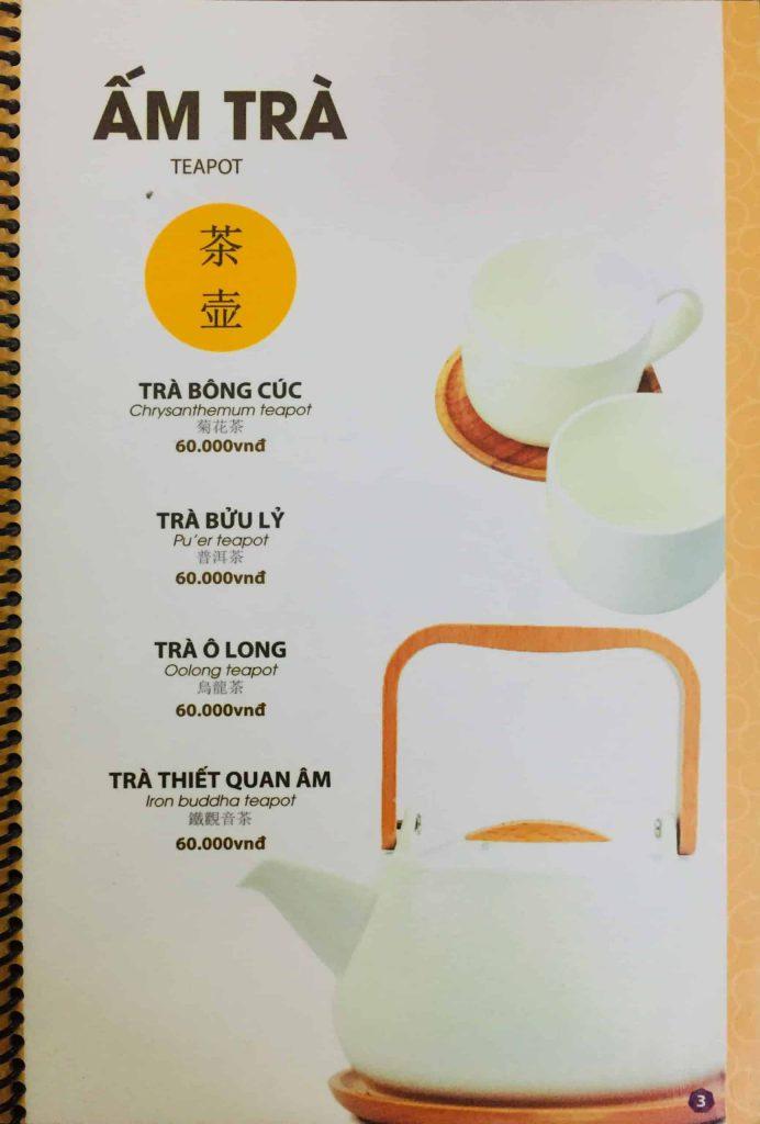 Menu ăn sáng Dìn Ký Nguyễn Trãi 13