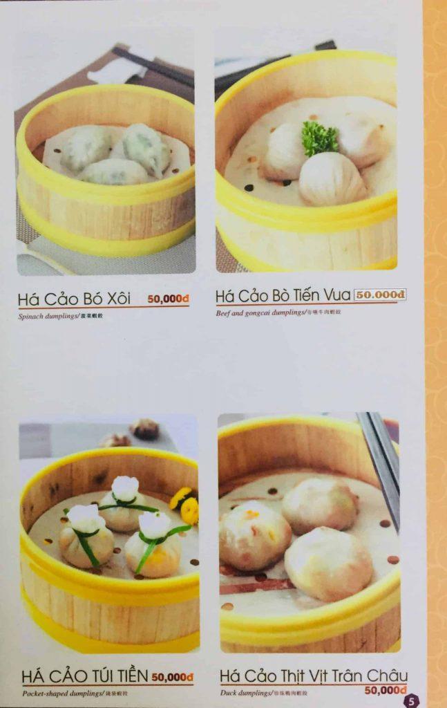 Menu ăn sáng Dìn Ký Nguyễn Trãi 2