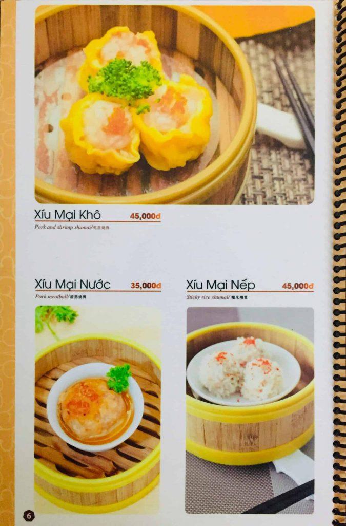 Menu ăn sáng Dìn Ký Nguyễn Trãi 3