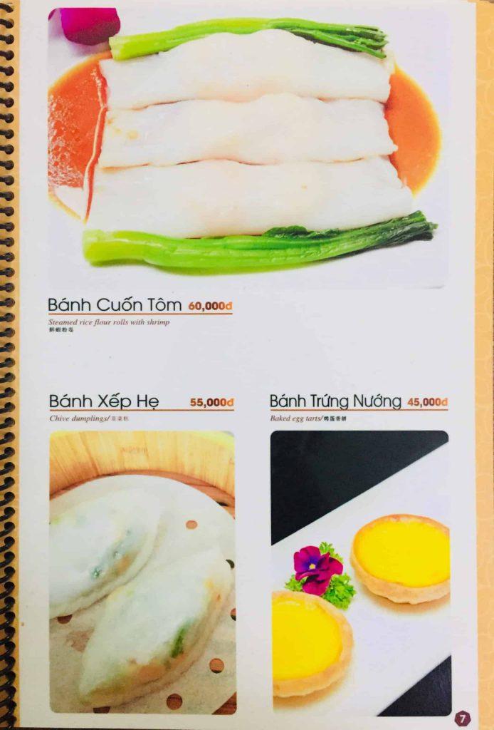 Menu ăn sáng Dìn Ký Nguyễn Trãi 4