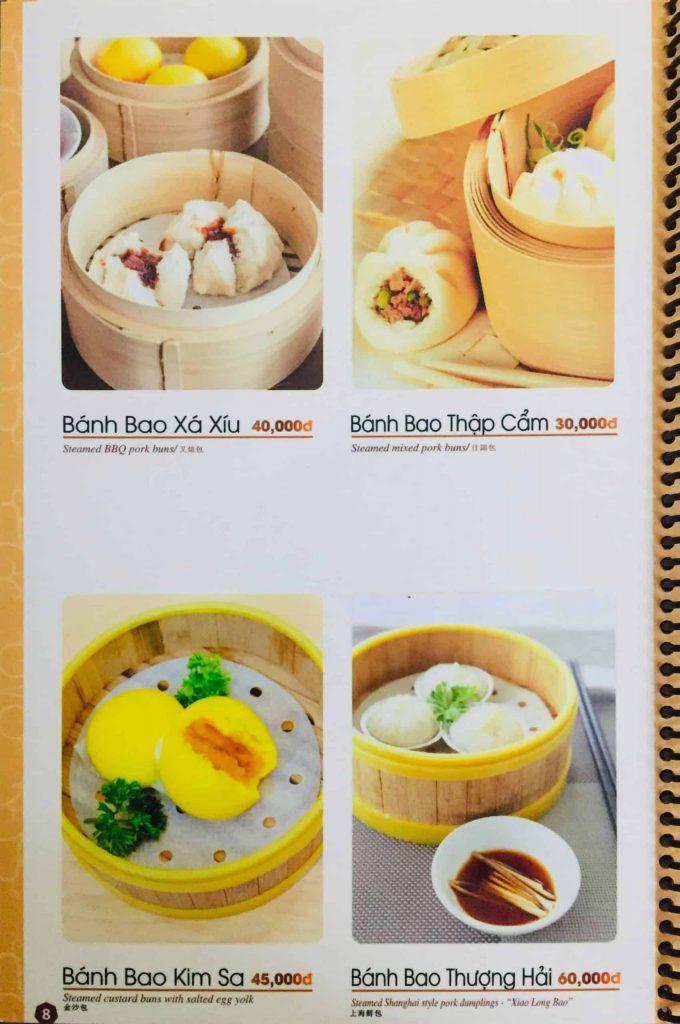 Menu ăn sáng Dìn Ký Nguyễn Trãi 5