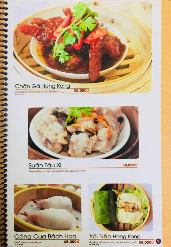 Menu ăn sáng Dìn Ký Nguyễn Trãi 6