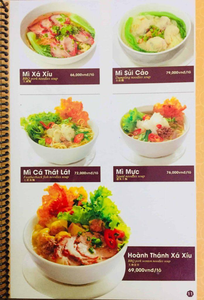 Menu ăn sáng Dìn Ký Nguyễn Trãi 8